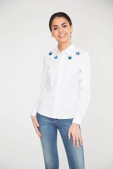 Блузка с вышивкой Звезды Marimay со скидкой
