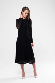 Платье из сетки черного цвета Marimay со скидкой